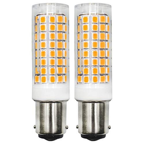 B15D 6W Screw Edison LED-Glühbirnen, entspricht 60W Halogenlampe, 220V, 560LM, Warmweiß(3000K), CRI>83, 360°Strahlwinkel, energiesparende LED-Lampen, 2er-Pack [MEHRWEG]