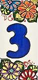 Numero civico casa. Insegna con numeri e lettere fatte di piastrelle di ceramica, fatte e ...