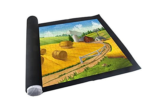 PIANETA Puzzleunterlage aus Vliesstoff Puzzlematte Puzzlerolle Aufbewahrungrolle Teppich für bis zu 1500 Teile, Praktisches Zubehör zur Aufbewahrung von Puzzles