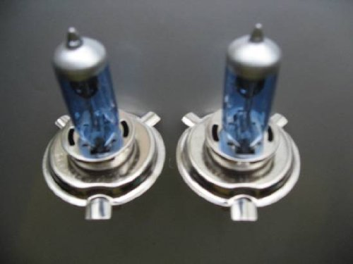 Xtremeauto Compatible with JAGUAR XJ6 86-94 H4 XENON HEADLIGHT BULBS BLUE TINT