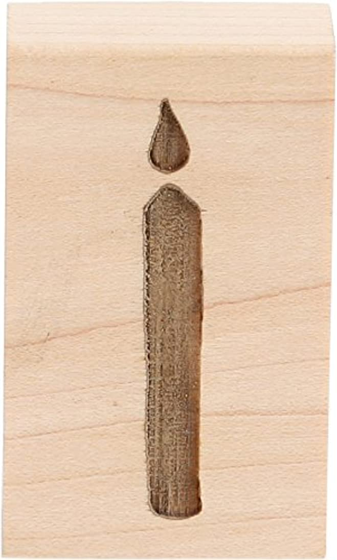 CLEARSNAP 19456 Candle Wood Mount Rubber Stamp, 1 1/4