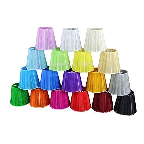 12cm modernos de encaje de la lámpara pantallas de lámparas, la cortina blanca Negro Rosa Púrpura Azul Amarillo Verde rojo de la tela de la lámpara lámpara de pared, clip en