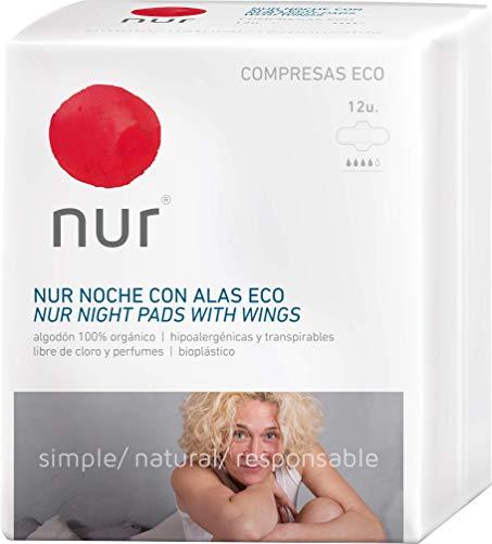 Compresas ecológicas Nur Noche Alas