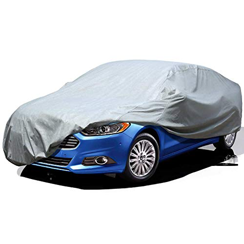 Leader Accessories Car Cover All Weather UV Protection Basic Guard 3 Layer Breathable Dust Proof Universal Fit Full Car Cover Up To 200''