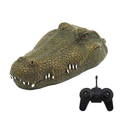 GoolRC Flytec V002 RC Boat, 2.4G Remote Control Electric Racing Boat for Pools with Simulation Crocodile Head Spoof Toy