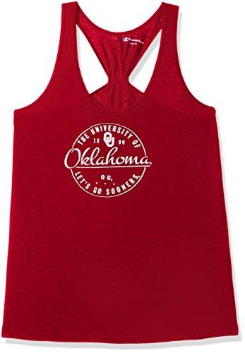 Champion NCAA Oklahoma Sooners Women's Eco Swing Tank, Medium, Cardinal