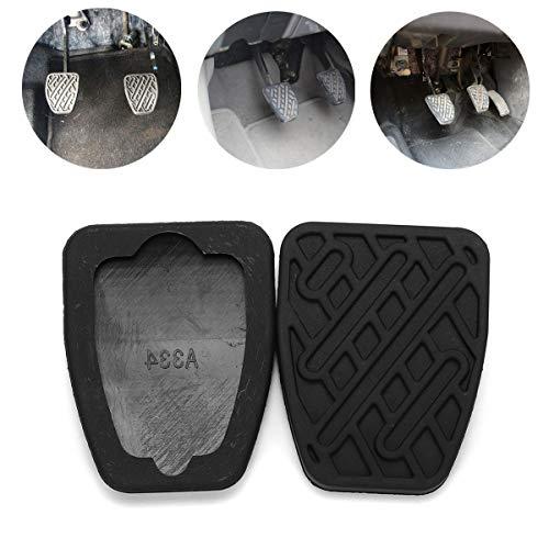 C-FUNN Paar Gummi Auto Bremse Kupplung Pedal Abdeckung Anti-Rutsch-Pad für Nissan Qashqai