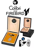 Colibri Firebird Juego de humidor para 20puros Negro/mate