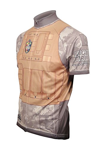 FIGURE ARMOR Military-City Digital Camo Men's Cycling Jersey Short-Sleeve Polyester Moisture Wicking-Holiday Deals
