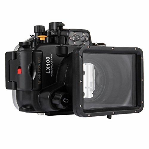 YAOkxin Adecuado para Panasonic LUMIX DMC-LX100 40m Submarino Profundidad Buceo Caso Impermeable cámara Vivienda Profesional fotografía submarina Cubierta Impermeable