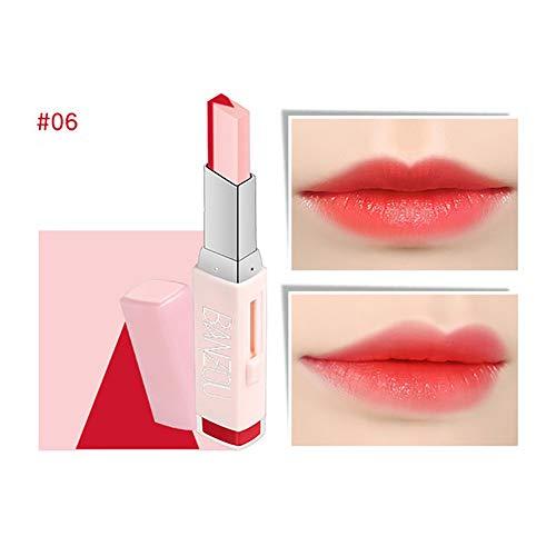 Beito 1 STÜCK MakeupTwo Tones Lippenstift Feuchtigkeitsspendende Gradienten Lippenstift Langlebige Lip Blam Schönheit Natürliche Lippen Kosmetik Tönung Lip Bar Geschenk Für Mädchen (06)