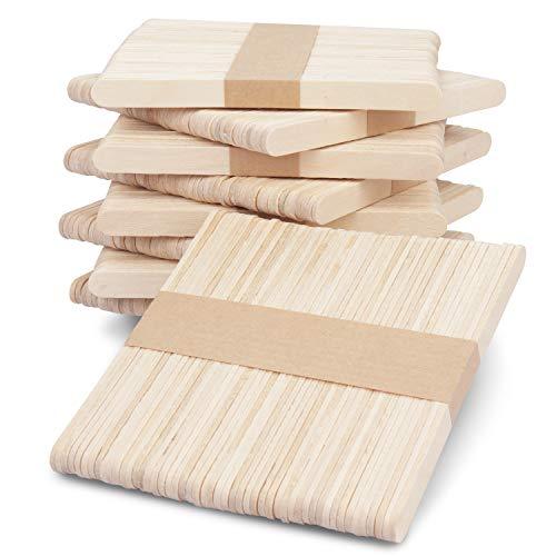PACK DE 1000: Este pack de 1000 palitos de madera para manualidades es todo lo que necesita para sus manualidades. Todos los palos de madera miden 11 cm de largo, 0,9cm de ancho y 0,2cm. Deje volar su imaginación con estos palitos para manualidades. ...