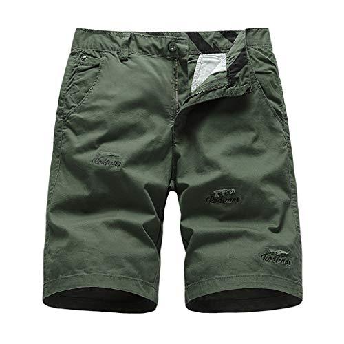Momoxi Einfarbige bestickte Strandshorts für Herren Army Green 34 Badehose Herren Borat Anzug bademode Damen Sporthose Damen Bikini kaufen