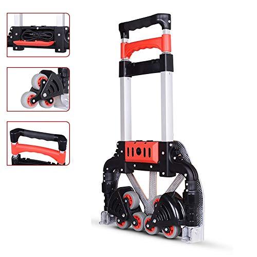 RSGK multifunctionele winkelwagen, zeswielige opvouwbare trapwagen, stille slijtage rubberen wiel, gebruikt voor het winkelen/trekken goederen/verplaatsen