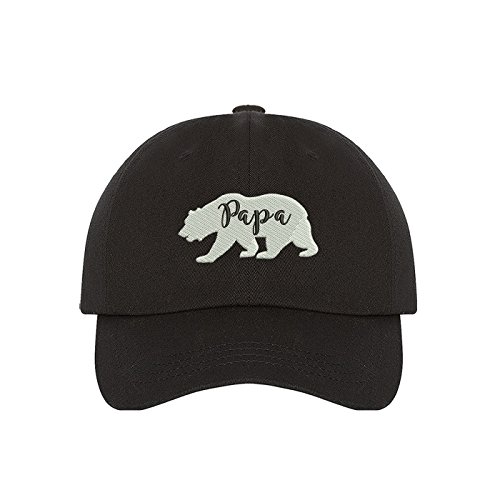 Prfcto Lifestyle Papa Bear Family Dad Hat, Black (Papa Bear Family Dad Hat), One Size Fits Most