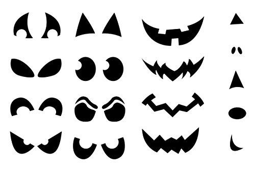 Halloween pompoen gezicht Vinyl Sticker sjablonen Set Pack uitgesneden Desposable neus ogen mond Jack gezichten snijden snijgereedschap - ontworpen en gemaakt door EPIC MODZ