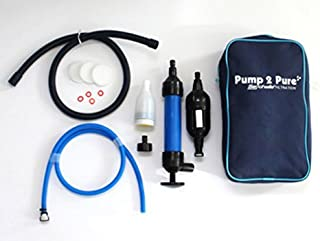 Seychelle Water Filter Manual Water Purifier Pump, Dual Supreme Drinking Water Pump By Hand Water Filtration System