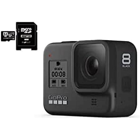 GoPro HERO8 Black ゴープロ ヒーロー8 ブラック ウェアラブル アクション カメラ CHDHX-801 + マイクロ SD カード 64GB + オリジナル 0.5m Cタイプ 予備充電ケーブル セット [並行輸入品]