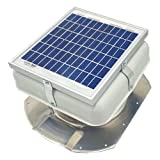 Solar Mega RoofBlaster for Conex Containers (White) | Solar Roof Vent | Solar Roof Fan