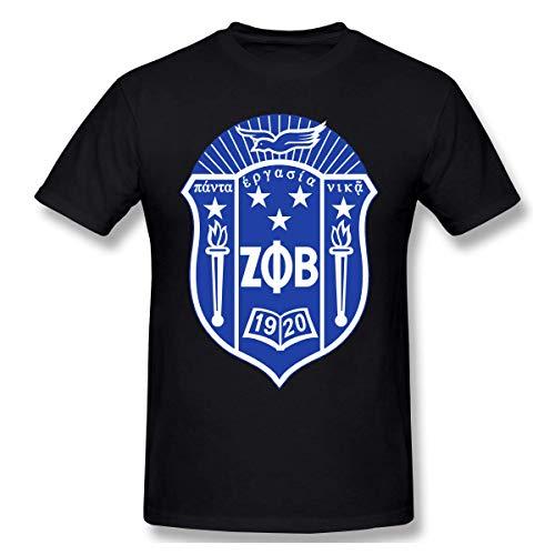 Camiseta de Manga Corta de Moda Zeta Phi Beta para Hombre Camiseta de Cuello Redondo 5XL