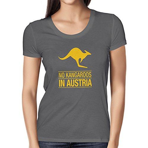 Texlab Damen No Kangaroos in Austria T-Shirt, Grau, XL