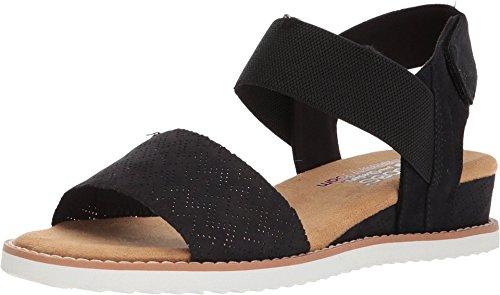 Skechers womens Desert Kiss Sandal, Black, 9 US