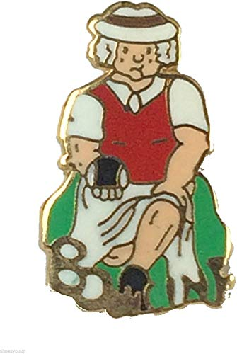 Smartbadge® Bowling Comic Lady Bowler Harte Qualität Emaille Reversnadel Badge