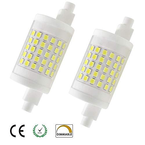 10W Dimmbare R7s LED-Scheinwerfer-Birnen-78mm Kaltes Weiß 6000K 360 Degrees Double Ended J78 R7s LED Lampe 100W Halogen-Ersatz Zwei Pack