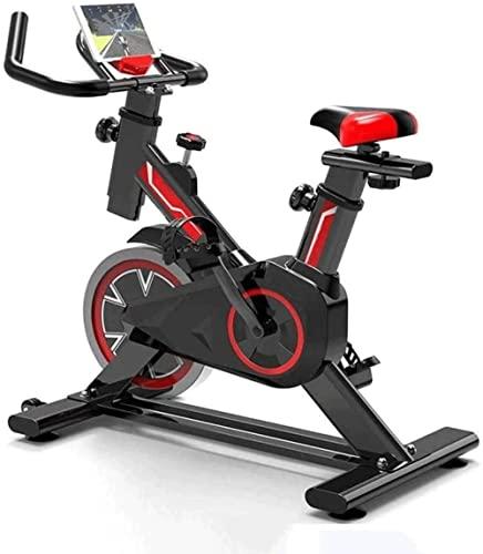 Equipo de Entrenamiento de Bicicletas estático Ejercicio Profesional Ejercicio de Entrenamiento Ajustable con Asiento cómodo de Asientos sin éxito Antideslizante MWSOZ (Color: Negro)-Negro