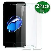 TechRise iPhone7ガラスフィルム 液晶保護フィルム 0.30mm薄さ 9H硬度 透明性99% 3DTouch対応 気泡ゼロ 指紋防止 ラウンドエッジ加工【2枚入り】