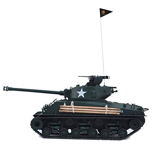 HOOBEN 1:16 U.S. Fury M4A3E8 Sherman MEDIUM Tank RTR Zusammengebaut und bemalt Ready to Run Inside VCU [D6603F01]
