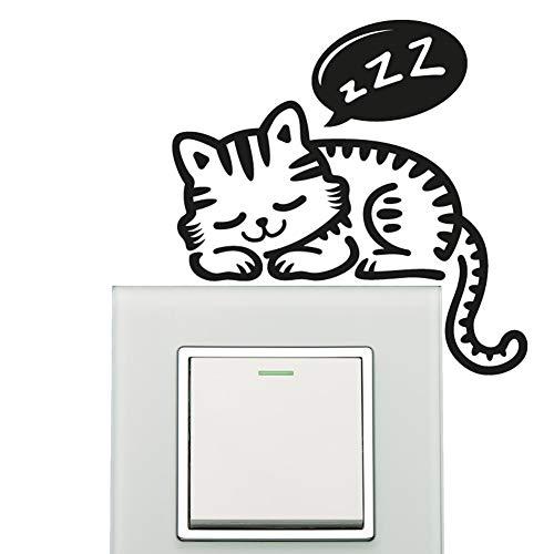 2x VINILO DECORATIVO INTERRUPTOR DECORACION STICKER-GATO A light switch decal