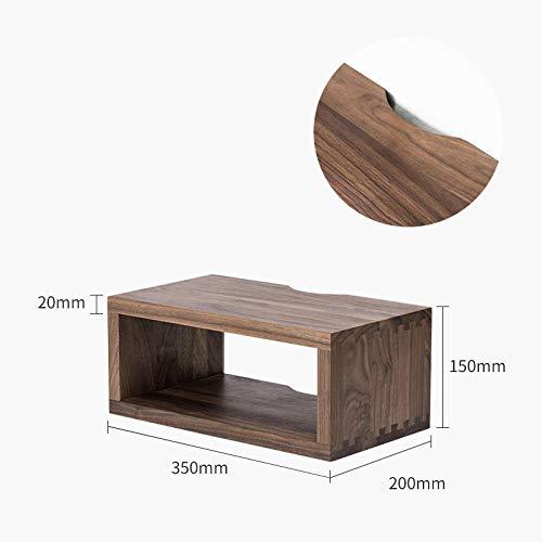 Drijvende Planken, Houten Decoratieve, Vintage Stijl Opslagplanken, Interieur Hangende Decoraties, Displayrek,Eiken Rek-Zwarte Walnoot 350X150X200Mm