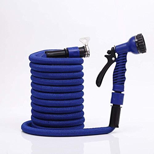 Tuyau d'arrosage Tuyau d'arrosage extensible Flexible Flexible No Kink Magic Water Hose avec pistolet à 7 fonctions et connecteur multifonctionnelDouble chambre à air en Latex Utilisation flexible Ou
