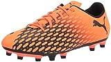Puma Spirit III FG - Botas de fútbol para Hombre, Color Naranja y Negro (Shocking Naranja Negro), 41 EU