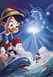 HJGLN 5D DIY Diamant Malerei Kit, Cartoon Pinocchio Poster