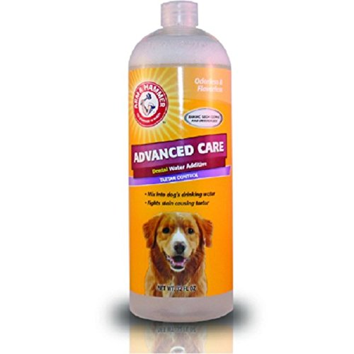 Advanced Care Detal Water Additive Tartar Control - Cuidado dental avanzado para perros, 32 FL oz