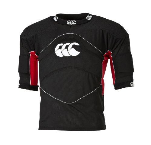 Canterbury Flexi Top Shoulder Vest, Black/Scarlet, Medium