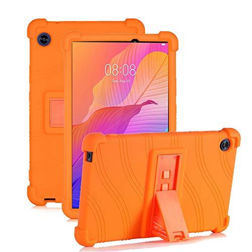 RLTech Funda Carcasa para Lenovo Tab M10 FHD Plus, Silicona TPU Flexible con Soporte Función Funda Protectora Case Cover para Lenovo Tab M10 FHD Plus TB-X606F 10.3 Pulgada, Naranja
