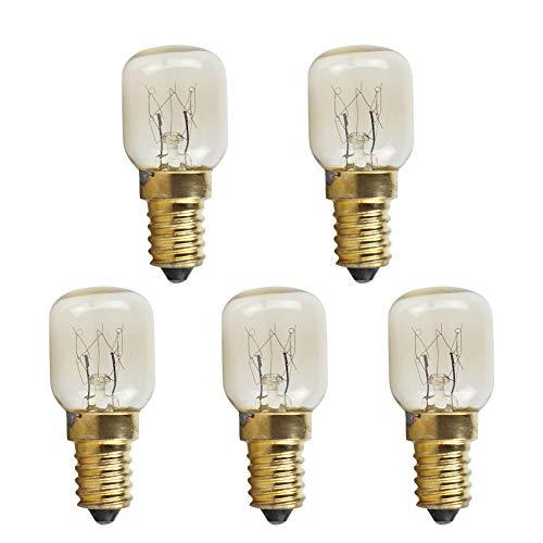 glow lampadina 5 Pz/Lotto Lampadina E14 Lampada Lampadina Ses 300 Celsius 25W Forno Fornello Bulbo Lampada Del Forno Illuminazione Bianco Caldo Ac 220-230 V