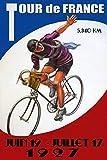 16 X 12 Inch Tour De France 1927 Bicycle Bike Cycle Race Tin Sign Nostalgic Metal Sign Home Decor for Culb Bar Cafe