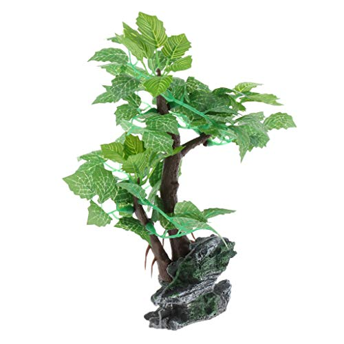 KESOTO Künstlicher Baum Kunstbaum Kunstpflanze für Aquarium Terrarium - Typ 7, L