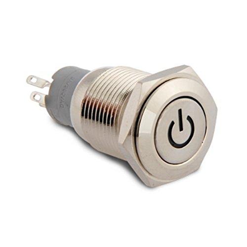 Gesh 16 mm 12 V LED rojo interruptor de encendido y apagado para coche, barco