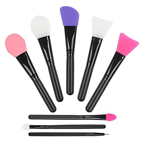 Jubaopen 8PCS brocha silicona cepillo mascarilla facial brochas de silicona para maquillaje brocha maquillaje silicona Cepillos de Mascarilla para Aplicar Faciales Máscara de Barro Cosmética de Ojos