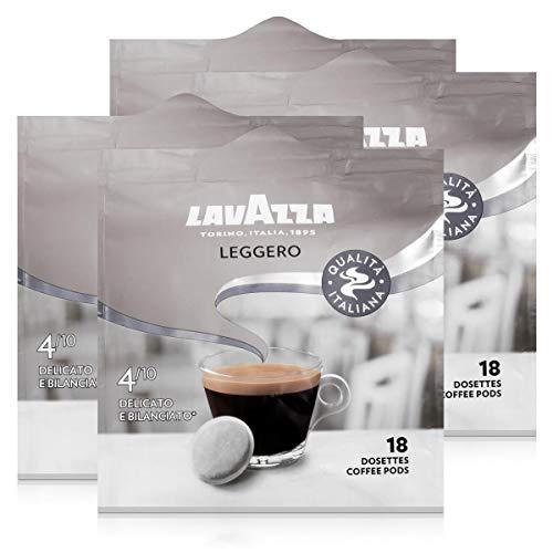 Lavazza Kaffeepads Leggero 18 Pads - Für Kaffee-Padmaschinen 125g Röstkaffee (4er Pack)