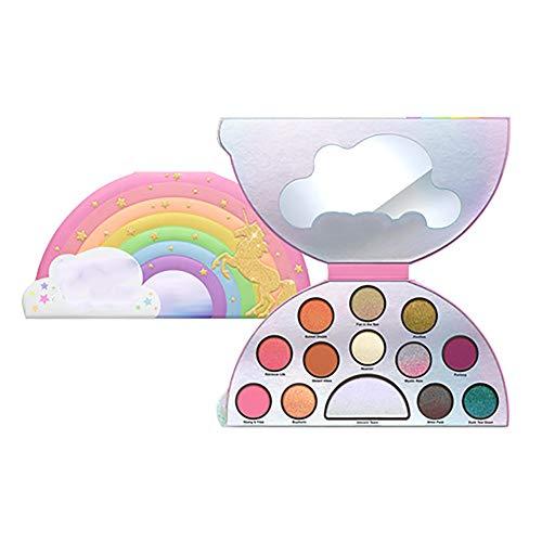 13 colores sombra de ojos bandeja brillo ojo sombra láser unicornio arco...