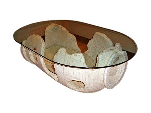 Ovaler Glastisch Wohnzimmertisch Tisch Couchtisch Versa Serie Amphorentisch Vasentisch