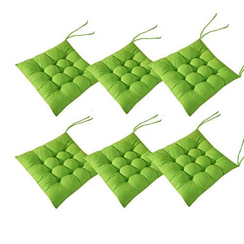 AIITLLYNA AGDLLYD Cuscini per Sedie Set da 6,Cuscino per Sedia da Giardino 40x40 per Interni ed Esterni - Decorazione di mobili da Giardino di Diversi Colori Cuscini per sedie (Verde)