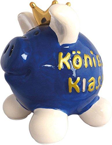 Royal Swiggie Königsk(l)asse Sparschwein Krönchen Krone Glücksschwein Spardose: Größe: klein