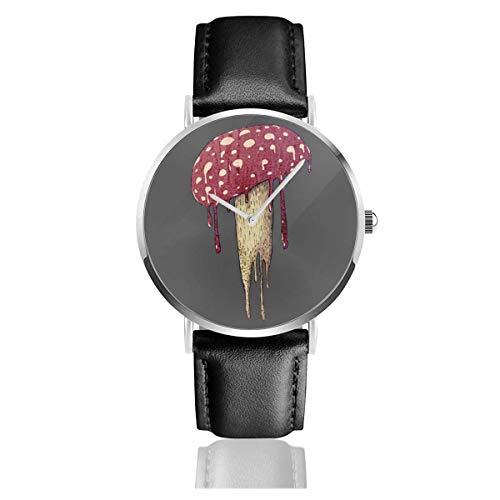 Reloj de Pulsera con Forma de Hongo, Temporizador, Deportes, Adolescentes, Estudiantes, Reloj de Cuarzo, con Pilas, 38 mm de diámetro